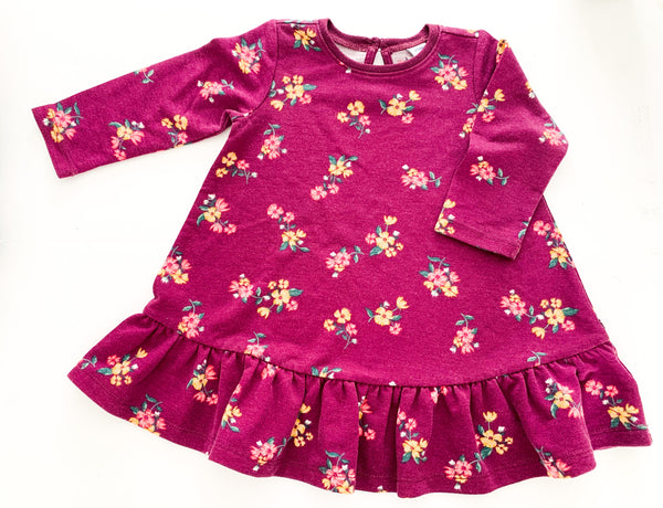 Old navy floral peplum dress  (6-12 months)