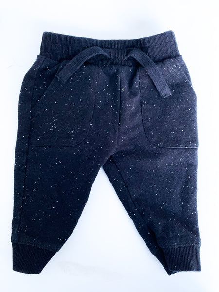 Miles Baby black speckled joggers size 6 months