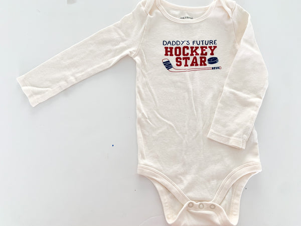 Joe fresh hockey cream bodysuit (18-24 months)