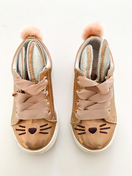 Cat & Jack metallic rose gold bunny runners(size 7)