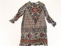 Zara paisley print LS dress  (size 5)
