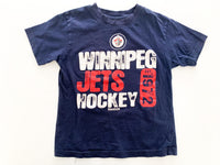 Winnipeg jets navy t shirt (size 6)