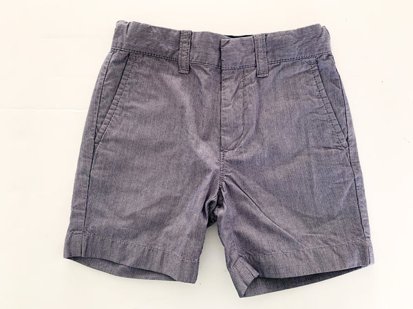 Crewcuts blue fine pinstripe cotton shorts size 3Y