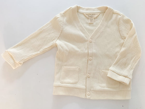 Gap organic cotton ribbed cardigan (6-12 months)