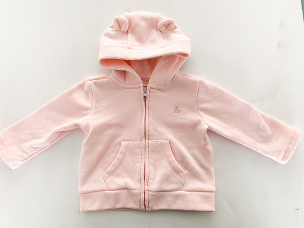 Gap pink w/fleece lined hoodie (6/12 months)