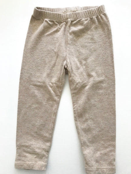 Baby Gap Tan leggings with bow bottoms