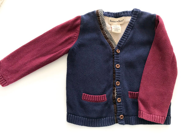 Standard Blues color block cardigan
