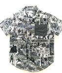 Marvel comic illustration button down