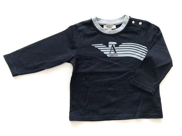 Armani navy long sleeve with logo