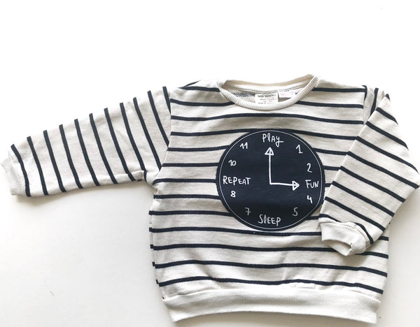 Clock stripe sweater
