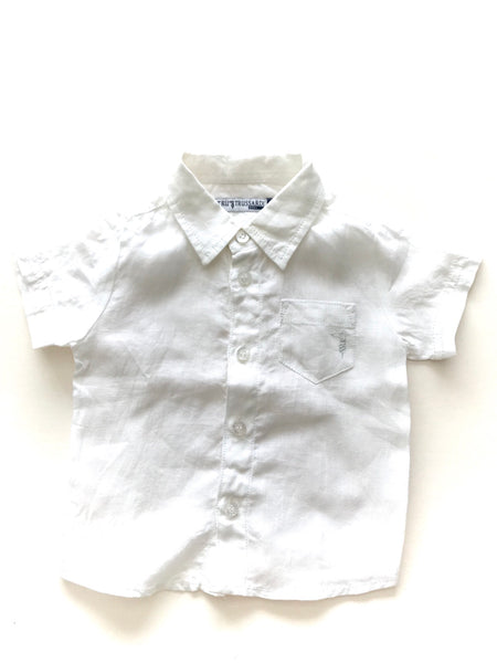 Trussardi White linen dress shirt