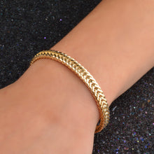 Load image into Gallery viewer, Gold Snake Chain Bracelet