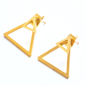 Offset Triangle Stud Earrings