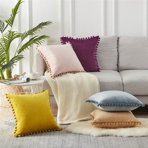 Pompom Throw Pillow Covers