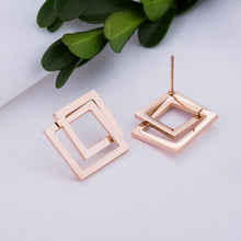 Load image into Gallery viewer, Rose Gold Interlocking Earrings