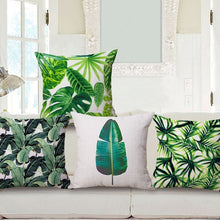 Load image into Gallery viewer, Jurassic Greens Pillow Cover