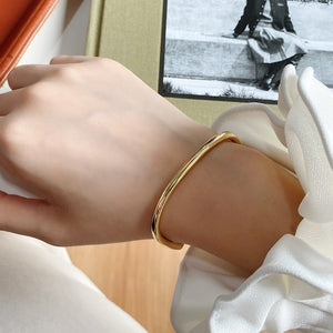 Irregular Gold Bangle