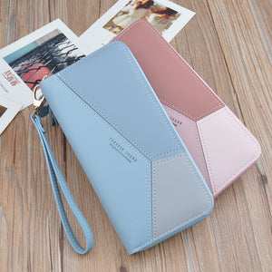 Multicolored Leather Wallet Clutch