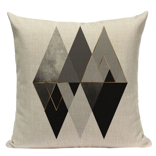 Grey Diamonds Pillow Cover