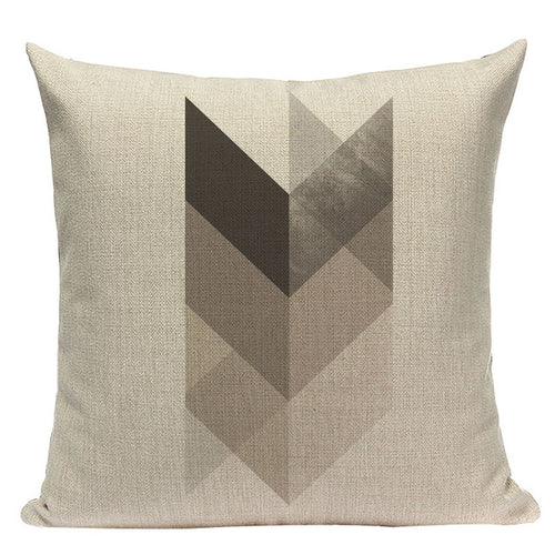 Neutral Chevron Pillow Cover