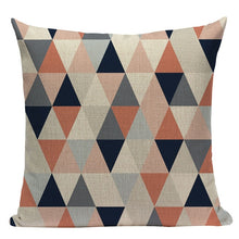 Load image into Gallery viewer, Triangle Grid Pillow Cover