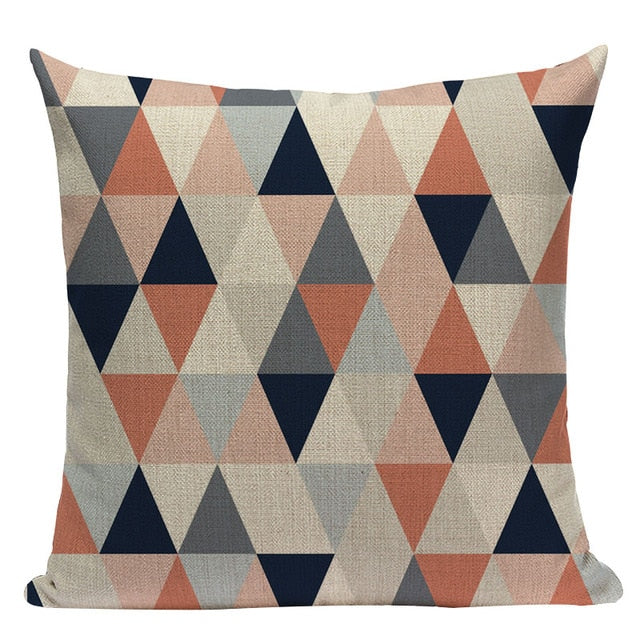 Triangle Grid Pillow Cover