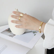 Load image into Gallery viewer, Gold Skinny Cuff
