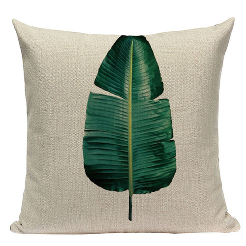 Single Palm Leaf Pillow Cover
