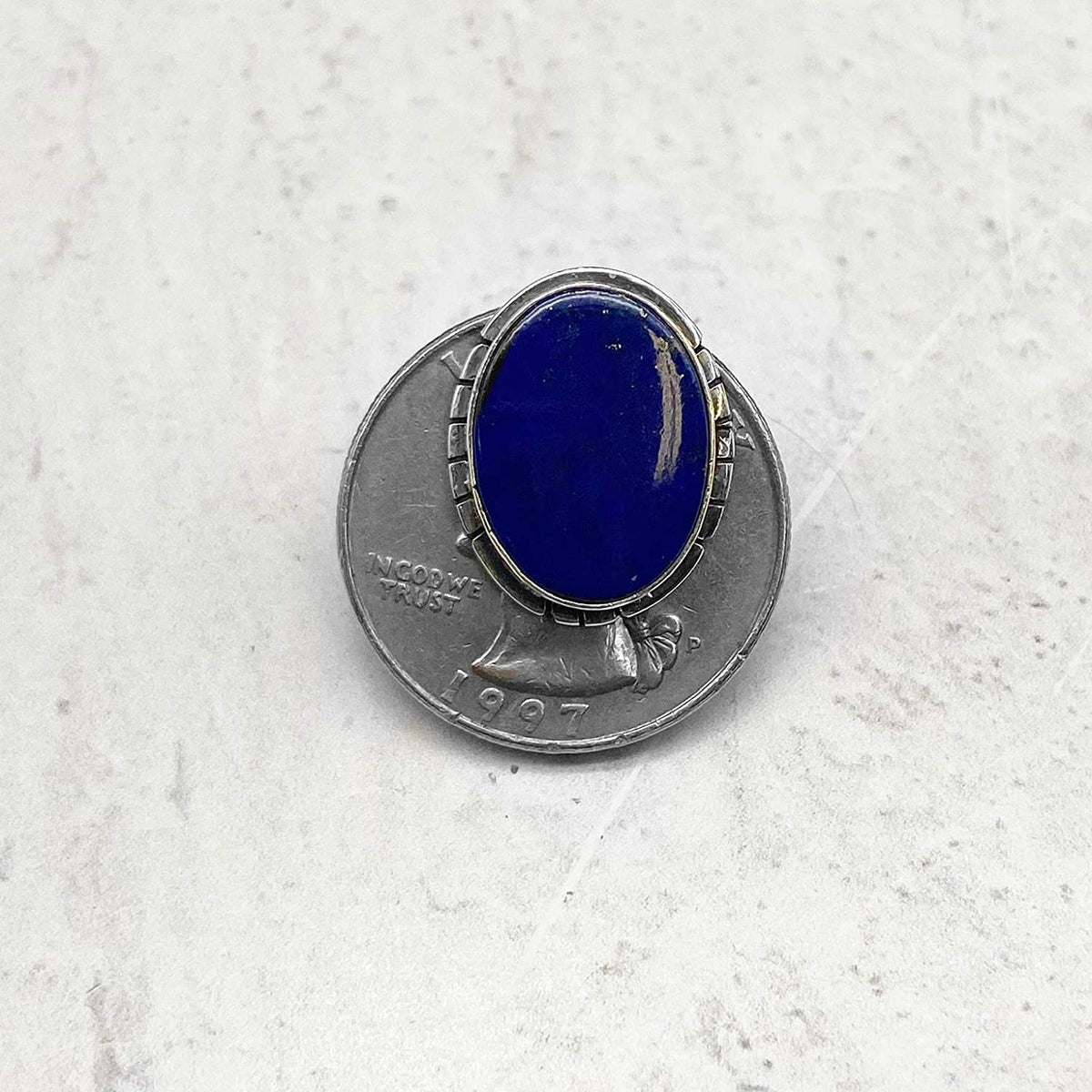 Genuine Lapis Lazuli Post Earrings, 925 Sterling Silver, Authentic Native American, Artisan Signed,Handmade in the USA, Nickle Free, Navy Blue