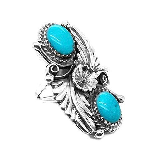 Genuine Sleeping Beauty Turquoise Ring, Size 5.5 Sterling Silver, Authentic Navajo Native American USA Handmade, Artist Signed, Nickel Free, Southwest Jewelry