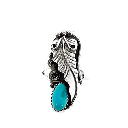 Genuine Sleeping Beauty Turquoise Ring, Size 5.5, Sterling Silver, Authentic Navajo Native American USA Handmade, Artist Signed, Nickel Free, Southwest Jewelry