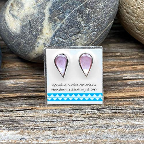 Mother of Pearl Stud Earrings, 925 Sterling Silver, Native American Handmade in the USA, Nickle Free