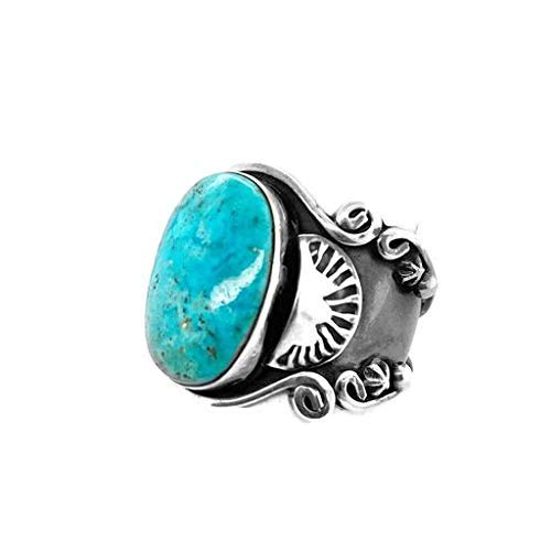 Genuine Sleeping Beauty Turquoise Ring, Size 10.5, Sterling Silver, Authentic Navajo Native American USA Handmade, Artist Signed, Nickel Free, Southwest Jewelry