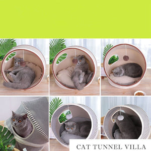 Pet Playing Tunnel Bed