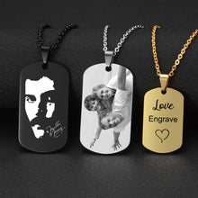 Load image into Gallery viewer, Stainless Steel Custom Engraved Necklace - Petscitoshop