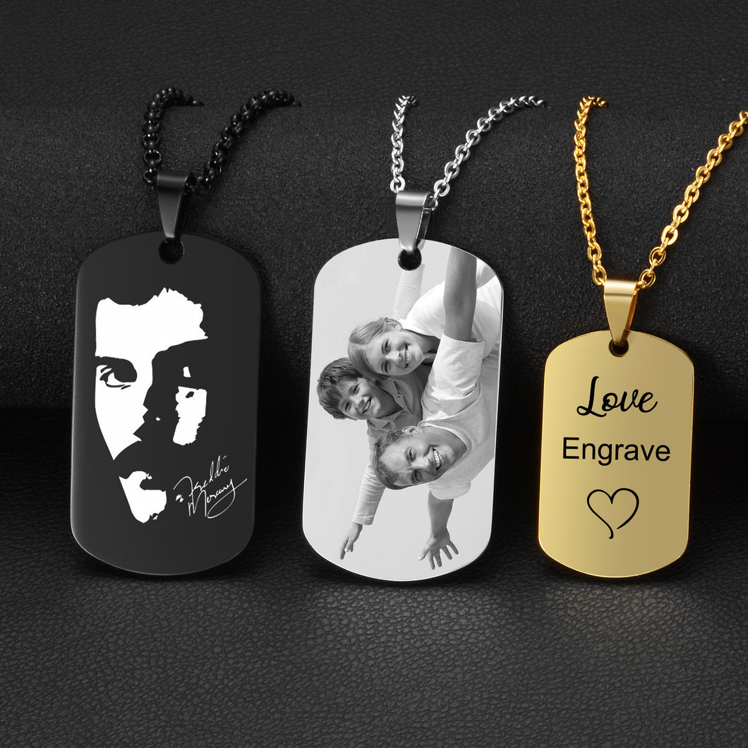 Stainless Steel Custom Engraved Necklace - Petscitoshop