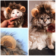 Load image into Gallery viewer, Funny Cute Pet Cat Costume Lion Mane Wig