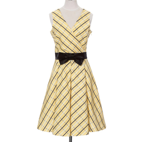 Ladies Wrap One Piece Dress -09. Sacred- Check Pattern Made in Japan