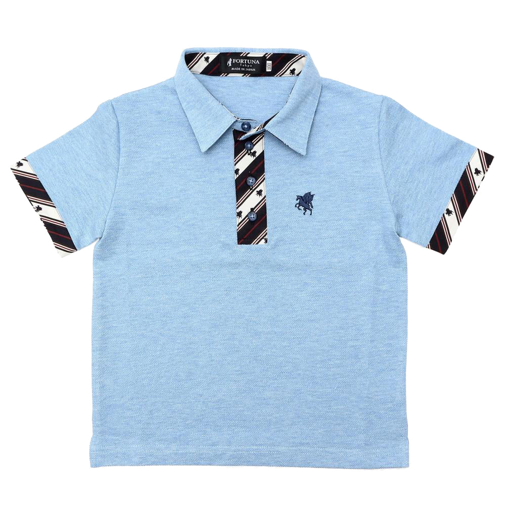 Kid's Organic Cotton Short Sleeve Polo Shirt -13. Miracle- Pegasus Pattern Made in Japan