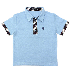 Kids Organic Cotton Short Sleeve Polo Shirt -13. Miracle- Pegasus Pattern Made in Japan