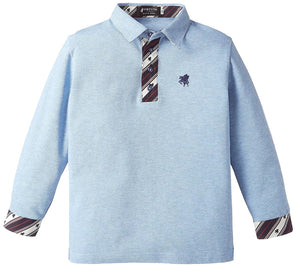 Kids Organic Cotton Long Sleeve Polo Shirt -13. Miracle- Pegasus pattern Made in Japan