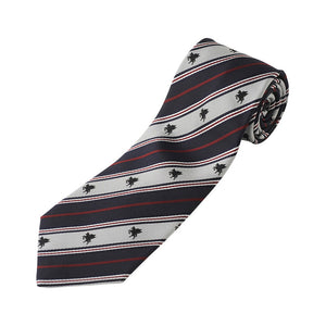 Men's Jacquard Woven 100% Nishijin Kyoto Silk Tie -13. Miracle- Pegasus Stripe Pattern Made in Japan