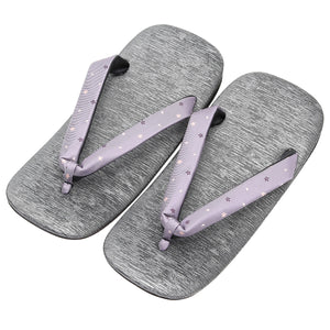 Men's Japanese Leather Soled Geta & Zori Sandals flip-flops Handmade with Silk Thongs -15. Sakura