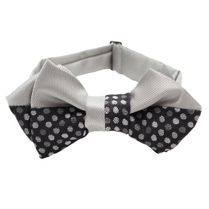 Men's Pre-Tied Adjustable Bow Tie -21. MIZUTAMA- Japanese Traditional Dots Pattern Made in Japan
