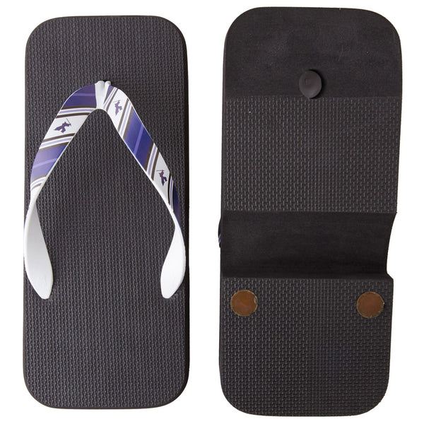 Men's Japanese Traditional Sandals Crocs -16. Samurai Design Striped Pattern Made in Japan