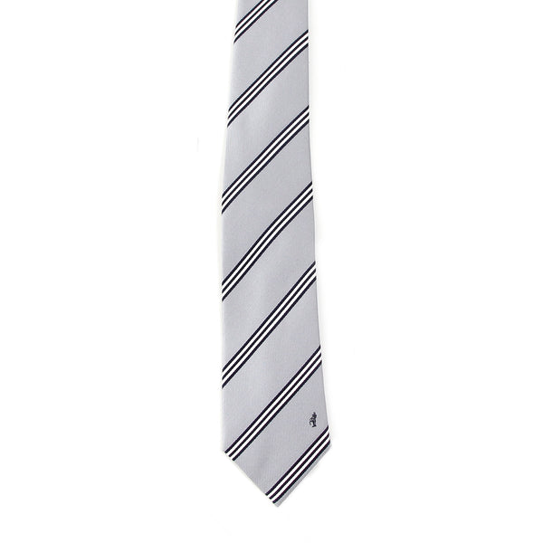 Men's Jacquard Woven 100% Nishijin Kyoto Silk Tie -07. Be Gentle- Stripe Pattern Made in Japan