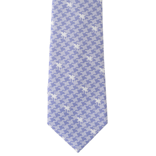 Men's Jacquard Woven 100% Nishijin Kyoto Silk Tie -11. Victory - Knight Houndstooth Check Pattern Made in Japan