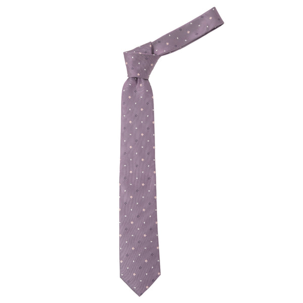 Men's Jacquard Woven 100% Kyoto Silk Tie -15. Sakura Cherry Blossoms Pattern Made in Japan