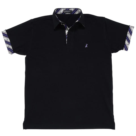 Men's Short Sleeve Cotton Sports Polo Shirt -16. Samurai Design Made in Japan