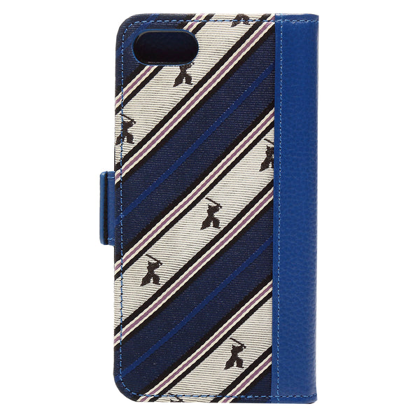 Wallet Case for Apple iPhone 6 7 8 Jacquard Woven Silk & Leather 3 Card Holder Made in Japan